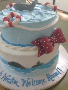 2 tier nautical cake