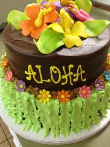 2 tier aloha cake