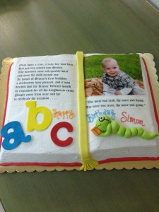 birthday book cake