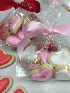 Valentine mini cookies