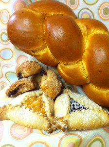 Challah, Rugelach,and hamantash
