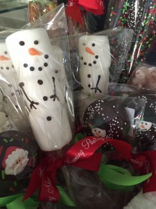 snowmen marshmallows on stick