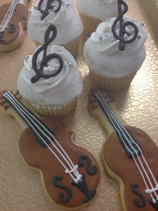 musical cookies and cupcakes